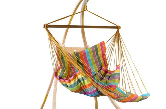 Zestaw hamakowy: fotel pikowany Comfy + stojak Atlas