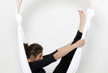 W fotelu hamakowym można też ćwiczyć