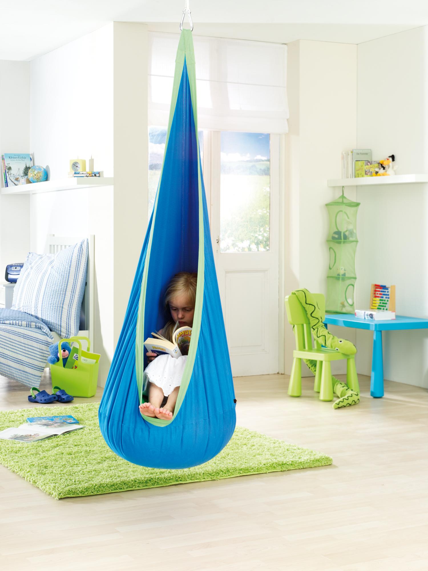 Fotel hamakowy dla dzieci hamaki for Hanging chair for kids room