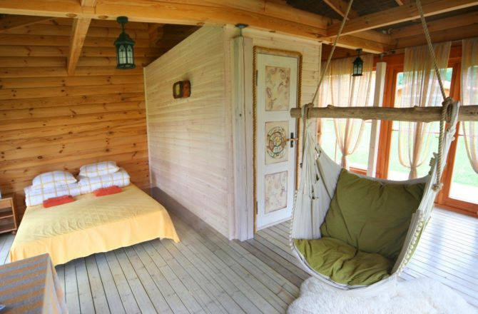 Fotele hamakowe we wnętrzach